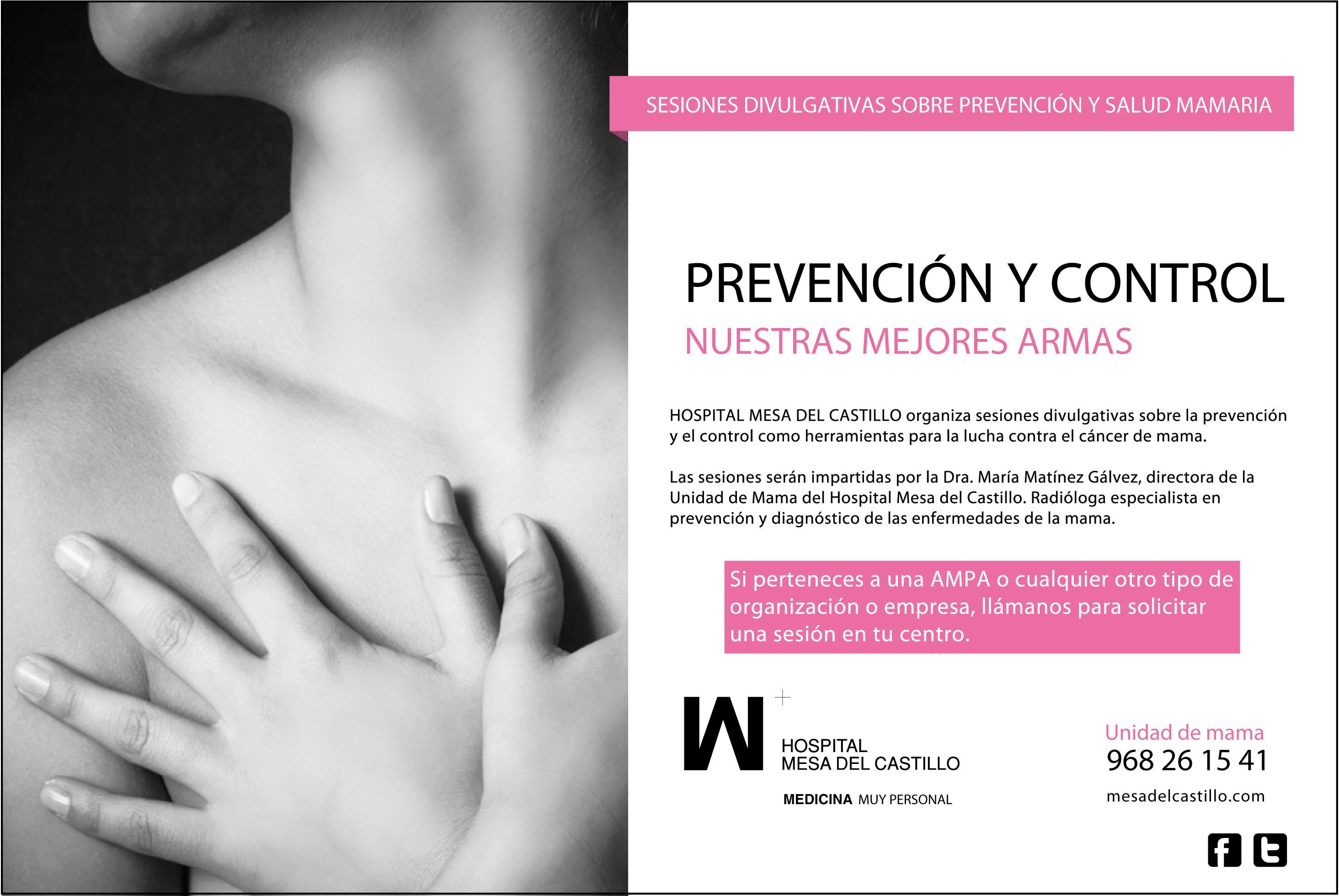 Sesiones divulgativas de prevención del cáncer de mama