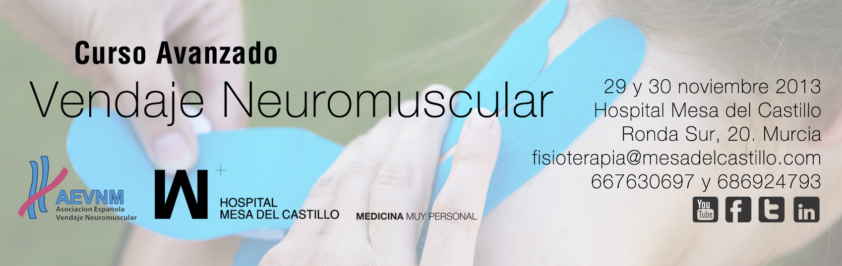 Curso Avanzado de Vendaje Neuromuscular