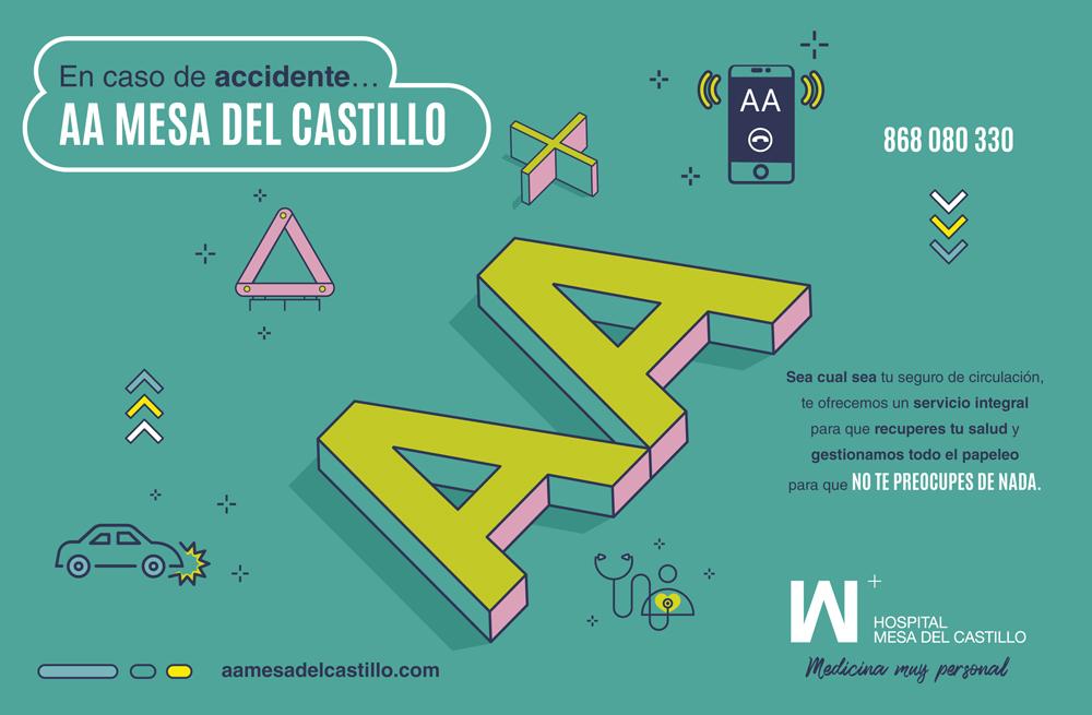 En caso de accidente de circulación: Avisar a Mesa del Castillo