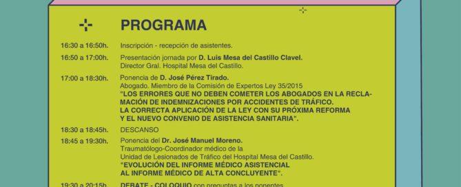 Accidentes de circulación, seguros y salud, a debate en una jornada el 7 de febrero