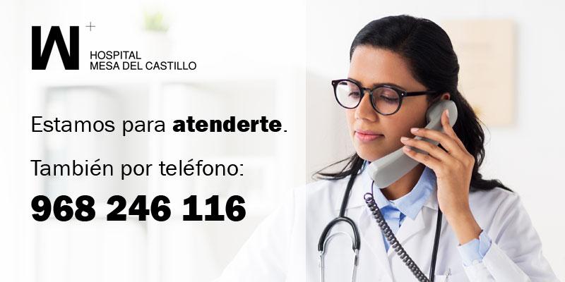 Atendemos dudas médicas por teléfono para reducir el riesgo de exposición al COVID-19