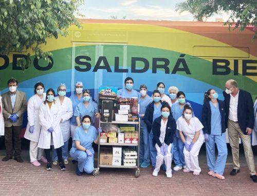 Arcoíris y aplausos de solidaridad para la lucha contra el coronavirus