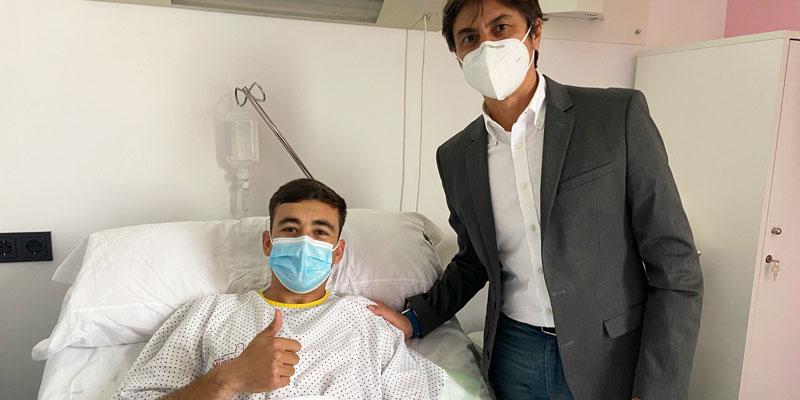 Pablo Haro, del Real Murcia, operado con éxito de una osteopatía de pubis